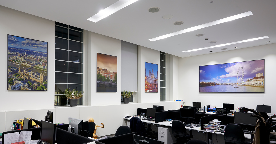 PhotoPanels 1m x 1.5m in Staff Offices - Scenes of London