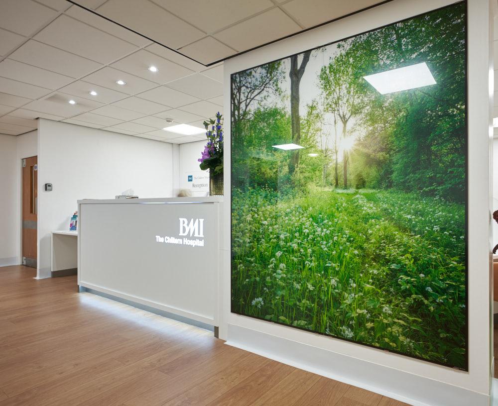 BMI Chiltern Hospital  PhotoGlassWorks 1.8m x 2m