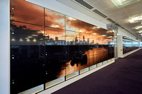 PhotoVinyl on Lockers, for a major financial institution, Canary Wharf, London