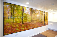 PhotoGlassWorks Front Lit in Outpatients Reception, 5 x 1.8m     The Alexandra Hospital, Cheadle