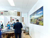 PhotoGlassWorks Front Lit in Café, 2.7 x 0.9m    The Alexandra Hospital, Cheadle