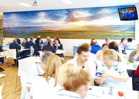 PhotoWall Wallpaper in Café, 8 x 1.8m         The Alexandra Hospital, Cheadle