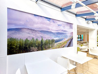 PhotoWall Wallpaper in Café, 3 x 1.3m   The Alexandra Hospital, Cheadle