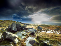 Blackstone Edge Moor, Rochdale, Lancashire, UK