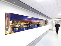 PhotoGlassWorks Front Lit, Hexaptych, 8.1m x 0.9m, Salford Royal Hospital