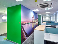 PhotoWall Wallpaper Smooth, 8m x 2.5m, Offices Salford Royal